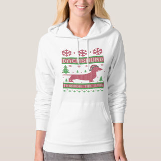 Dachshund Through The Snow Hoodie