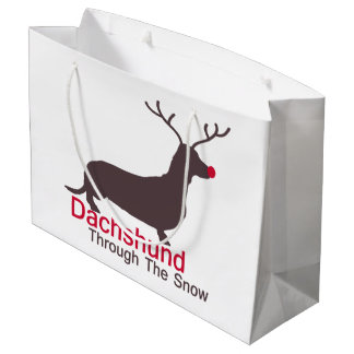 Dachshund Through The Snow Large Gift Bag