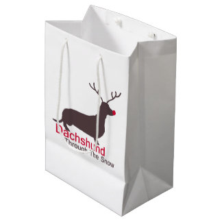 Dachshund Through The Snow Medium Gift Bag