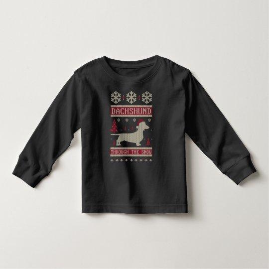 Dachshund Through The Snow Toddler T-Shirt