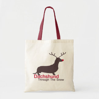 Dachshund Through The Snow Tote Bag