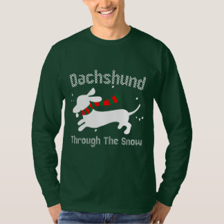 Dachshund Through the Snow Xmas Ugly Sweater