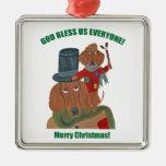 Dachshund Tiny Tim Christmas Tree Ornament