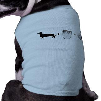 Dachshund trouble sleeveless dog shirt
