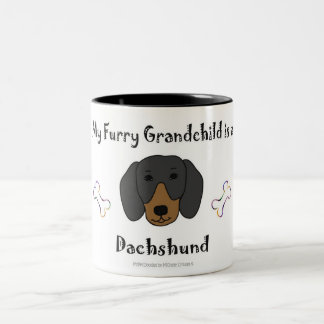 dachshund Two-Tone coffee mug