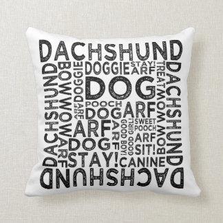 Dachshund Typography Cushion