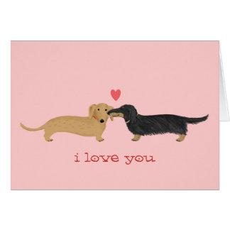 Dachshund Valentine Kiss Note Card