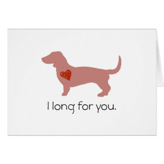 Dachshund Valentine's Day Note Card
