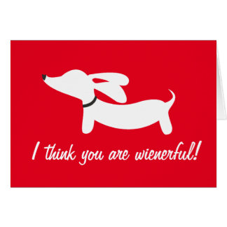 Dachshund Valentine's Day Profits Support DRSF Card