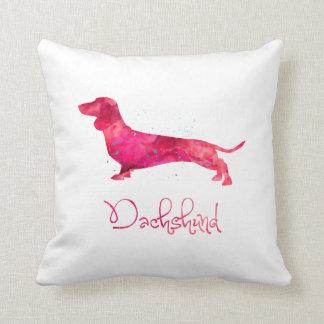 Dachshund - Watercolor Design Cushion