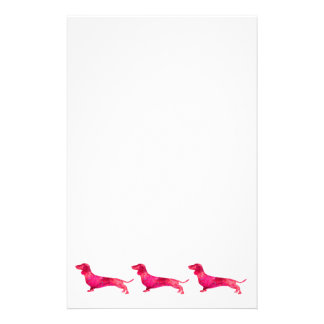 Dachshund - Watercolor Design Stationery Paper