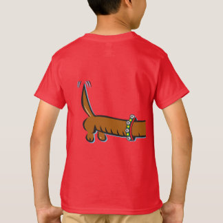 Dachshund wearing Reindeer Antlers for Christmas T-Shirt