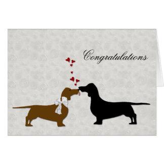 Dachshund Wedding Congratulations Greeting Card