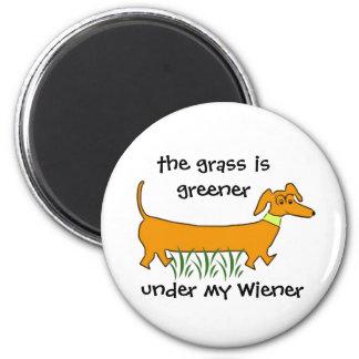 Dachshund Wiener 6 Cm Round Magnet