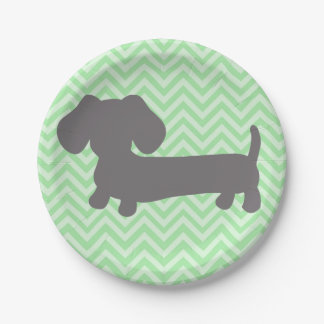 Dachshund Wiener Dog Party 7 Inch Paper Plate