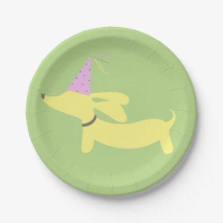 Dachshund Wiener Dog Party Paper Plate