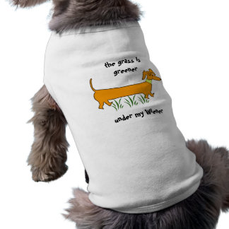 Dachshund Wiener Dog Sleeveless Dog Shirt