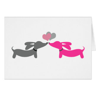 Dachshund Wiener Dog Valentine's Day Card