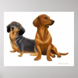 Dachshund Wiener Dogs Print