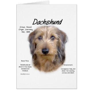 Dachshund (wirehair) History Design Card