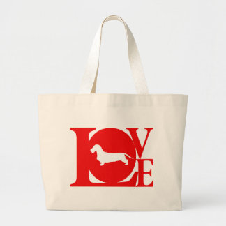 Dachshund Wirehaired Large Tote Bag