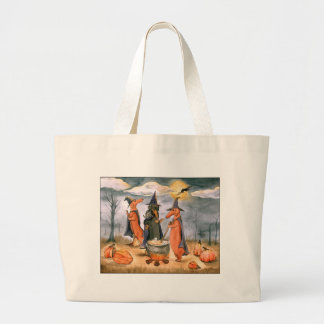 Dachshund Witches Large Tote Bag