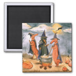 Dachshund Witches Refrigerator Magnets