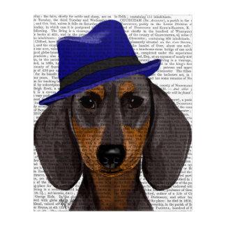 Dachshund With Blue Trilby Acrylic Print