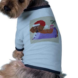 Dachshund With Christmas Stocking Ringer Dog Shirt