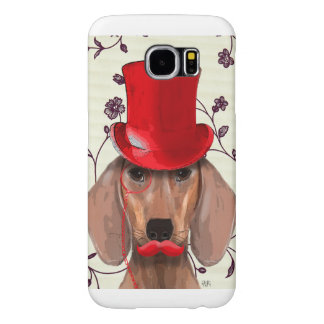 Dachshund With Red Top Hat Samsung Galaxy S6 Cases