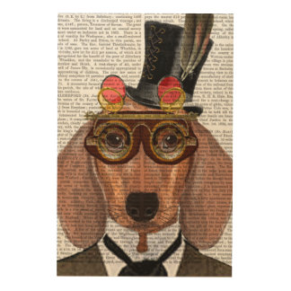 Dachshund with Top Hat and Goggles Wood Wall Decor