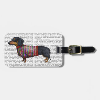 Dachshund With Woolly Sweater Luggage Tag