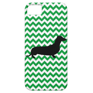Dachshund With You Pick The Color Chevron iPhone 5 Cover