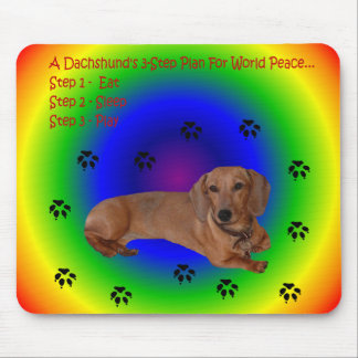 Dachshund World Peace Mouse Mouse Mat