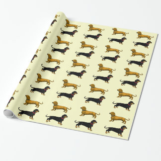dachshund gift wrap paper