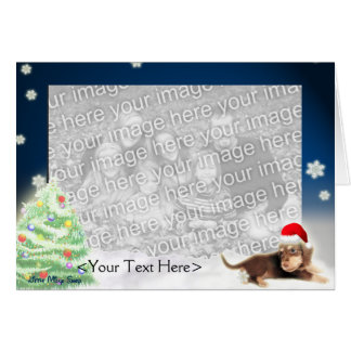 Dachshund Xmas Photo Card (Customizable)