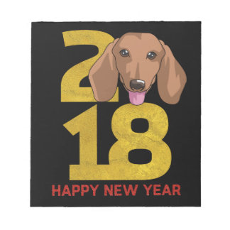 Dachshund Year of the Dog 2018 New Year Notepad