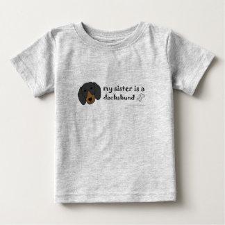 DachshundBlackTanSister Baby T-Shirt
