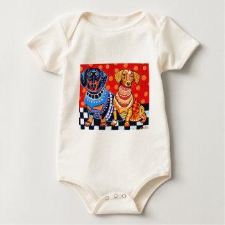 Dachshunds by Heather Galler Baby Bodysuit