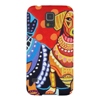 Dachshunds by Heather Galler Galaxy S5 Cover