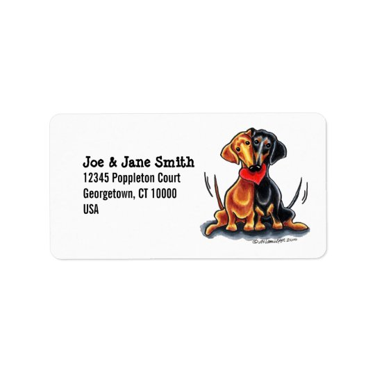 Dachshunds Have Heart Address Label