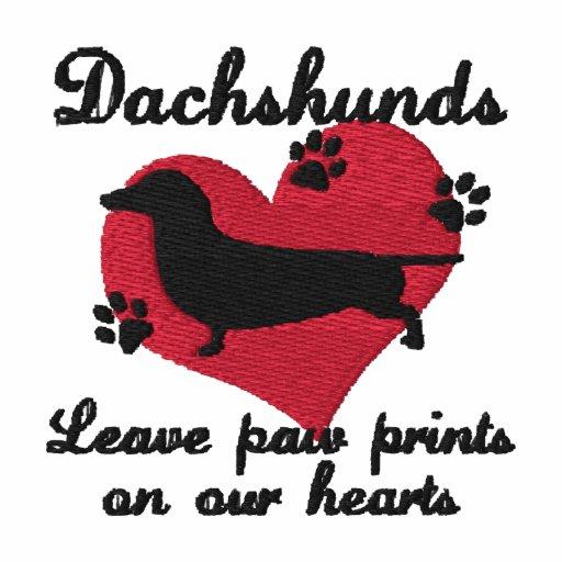 Dachshunds Leave Paw Prints Hoodie