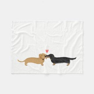 Dachshunds Love Fleece Blanket
