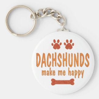 Dachshunds Make Me Happy Key Ring