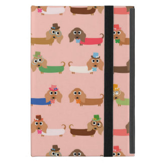 Dachshunds on Pink iPad Mini Cases