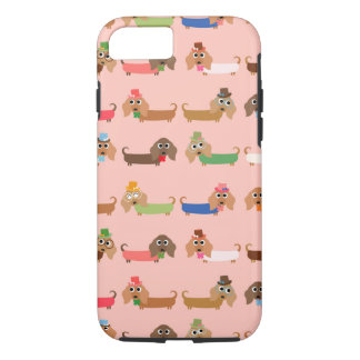 Dachshunds on Pink iPhone 8/7 Case