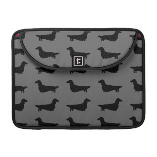 Dachshunds Pattern (Longhaired Dachsie) Sleeves For MacBook Pro