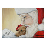 Dachshund's Request for Santa Canvas Print