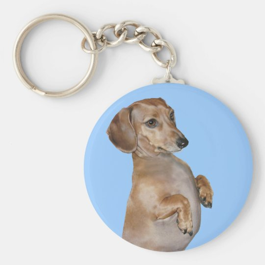 Dachshunds Rock Lilly Basic Round Button Key Ring