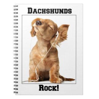 Dachshunds Rock Spiral Notebook
